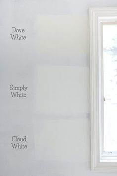 Top Row Left Right Benjamin Moore Chantilly Lace Glacier White Dove And Cotton