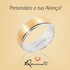 Personaliza a tua Aliança com a tua Assinatura, autentifica-a!  ALR3659A _