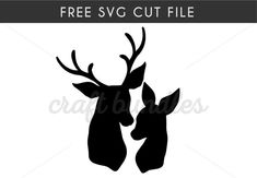 Are you looking for a free SVG vector cutting file? Deer Head Silhouette, Animal Silhouette, Deer Silhouette Printable, Deer Stencil, Pumpkin Stencil, Picture Templates, Deer Art, Free Stencils, Silhouette Cameo Projects