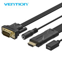 Vention HDMI to VGA Converter Cable With 3.5mm Audio HDMI VGA Adapter With Power 1080P For Xbox 360 PS3 Laptop TV to Projector #Affiliate
