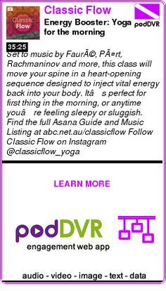 #UNCAT #PODCAST  Classic Flow    Energy Booster: Yoga for the morning    READ:  https://podDVR.COM/?c=4779a4cd-42fb-0b85-2879-15f3bec1aad9