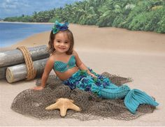 3 Piece Crocheted Under the Sea Mermaid Photo by GetTheeToAYarnery, $43.25