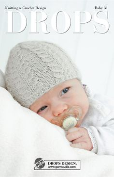 Katalog DROPS Baby 31 - Kostenlose Strick- und Häkelanleitungen - DROPS Baby 31 The Effective Pictures We Offer You About anello zaffiro A quality picture can tell - Baby Knitting Patterns, Baby Hat Patterns, Baby Hats Knitting, Knitting For Kids, Knitting Projects, Knitted Hats, Knitted Baby Outfits, Baby Boy Beanies, Drops Baby