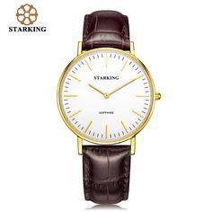 US $55.08 - STARKING Ladies Gold Quartz Watches Women Bracelet Watch Clock Casual Leather Waterproof Watch BL0965 montre marque luxe femme