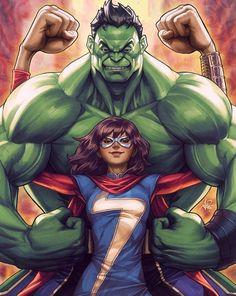 Hulk & Ms. Marvel - Stanley Lau