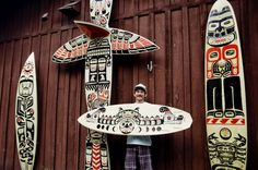 So Sick! Totem Poles out of #Surfboards