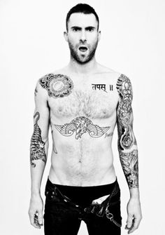 Adam Levine; mind you, after half the bottle, I'd probably lunge across the table at him....