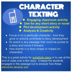 Activities and handouts for the pigman by paul zindel tammys character texting activity fandeluxe Image collections