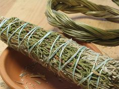 Desert Sage Juniper and Sweetgrass Smudge by BayberryMeadowHerbs, via Etsy.