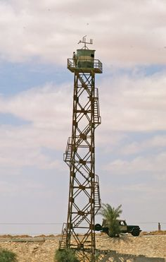 Egyptian military observation tower as seen from Israel Towers, Utility Pole, Prison, Egyptian, Military, Community, World, Building, Israel