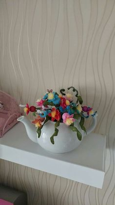 This Pin was discovered by Gam Creative Crafts, Diy And Crafts, Arts And Crafts, Christmas Topiary, Needle Lace, Lace Flowers, Crochet Stitches, Home Accessories, House Design