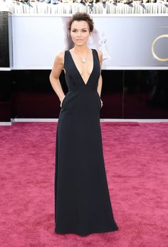 Samantha Barks in a simple black gown (I approve)- 85th Annual Academy Awards