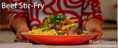 Thermomix recipe video cook-along for beef stir fry uses the Varoma for a full meal preparation. Expert demo by cookbook authour Dani Valent. Stir Fry Recipes, Beef Recipes, Cooking Recipes, Beef Stir Fry, Healthy Eating Recipes, Food Preparation, Meals, Dinners, Food Videos