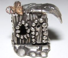 Metal Clay Fairy House Necklace by DaVoria on Etsy, $206.00