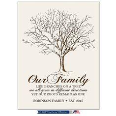 Personalized Family TeeCustom Family Tree by DaySpringMilestones
