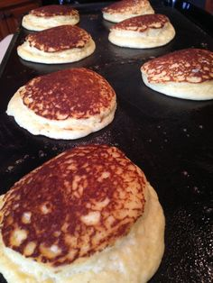 Lighter Than Air Low Carb Pancakes 3 eggs 1/2 cup ricotta cheese 2 tbsp. cream cheese, softened 3 tbsp. coconut flour 1 tbsp. protein powder 1 tsp baking powder pinch baking soda cream Whisk eggs until frothy. Mix in remaining ingredients until smooth. Melt butter on hot griddle. Pour 1/4 of batter on griddle for pancakes. Cook until brown and firm enough to turn. Turn and cook other side. Serve with butter and your favorite low carb topping. Makes about 8 four inch pancakes.