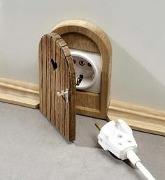 Mouse Hole Outlet Cover| Wish I could find this!!
