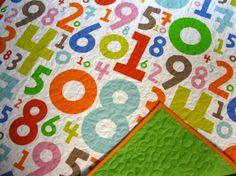 super cute modern number quilt