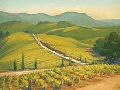 Matt Kania: Early Autumn Tuscany oil painting $000 SOLD