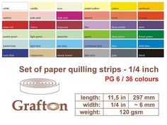 3600 Paper Quilling Strips, Set of Quilling Paper, Quilling Supplies, Beginner Kit, 6 mm 1/4 Inch wide, 297 mm 11,5' long, 120 gsm, FREE PAPER QUILLING TUTORIALS * Learn more by visiting the image link.