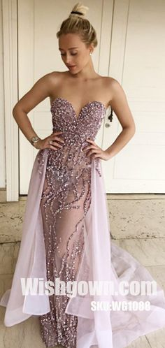 Sparkly Sweetheart Beaded Seen Through Sexy Long Prom Dresses, WG1088 #promdress #promdresses #longpromdress #longpromdresses #eveningdress