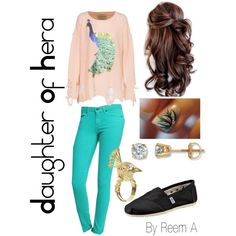 Daughter Of Hera ( Blessed By Hera ) Casual Outfit, Cabin 2, Percy Jackson Inspired Outfit