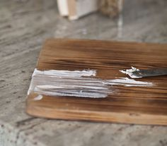 This is a pretty simple technique to give wood an entirely new look. The main thing to keep in mind is that you need the wax to work into the wood grain. That won't work if there is any type of seal on the wood. So if there is a poly or wax coat, you'll … Pine Furniture, Chalk Paint Furniture, Furniture Redo, Refinished Furniture, Antique Furniture, Liming Wax, White Washed Furniture, Cedar Hill Farmhouse, Bleached Wood