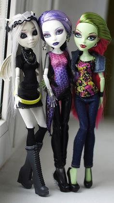 Monster high custom dolls by i1473, via Flickr