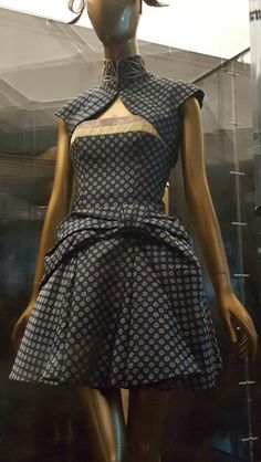 I saw this dress at the Metropolitan Museum. Could not resist taking a pic.