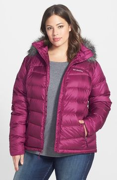Free shipping and returns on Columbia Glam Her' Faux Fur Trim Down Jacket (Plus Size) at Nordstrom.com. Cold-weather protection goes uptown in a shaped puffer insulated with 550-fill-power down and topped with a face-framing fringe of faux fur around the hood.