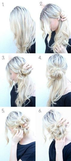 Messy Side Bun Updo | 5 Messy Updos for Long Hair, check it out at makeuptutorials.c…