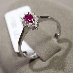 Inel cu rubine si diamante