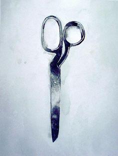 Scissors Watercolor by Robert Spellman