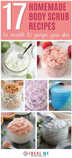 Everyone can use a little pampering once in awhile. These 17 homemade body scrub recipes are invigorating, restorative and will help to soften skin, leaving it smooth and silky. From helping our moisturizer absorb better, to increased relaxation, incorporating a body scrub into your shower routine, could be the best kept secret. Click to go to the body scrub recipes.