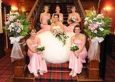 Mhairi and Bridesmaids at Sherbrooke Castle