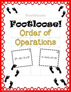 Students love Footloose! It's a great way to review concepts AND keep students moving and engaged at the same time. Order of Operations Footloose includes 30 cards, each of which has an order of operations problem to solve. Some of these problems do include parentheses and exponents.