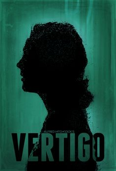 """""""Vertigo"""" Movie Poster (I think?) - One of the finest existential movies Classic Movie Posters, Minimal Movie Posters, Movie Poster Art, Film Posters, Classic Films, Alfred Hitchcock, Hitchcock Film, Vertigo Poster, Vertigo Movie"""