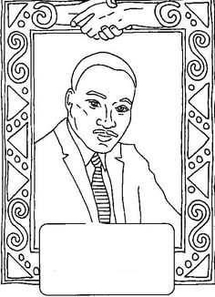 Biography Martin Luther King Coloring For Kids