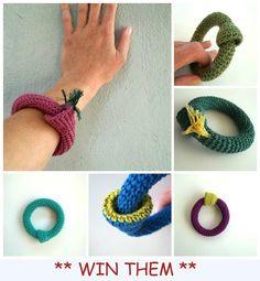 Last day of the giveaway!!! Winner will choose her favorite handmade Crochet Bracelet! http://efzin-creations.blogspot.gr/2013/06/giveaway-loula-crochet-lady.html