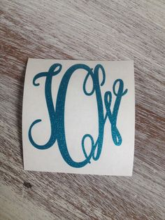 A personal favorite from my Etsy shop https://www.etsy.com/listing/246532612/glitter-monogram-vinyl-decal