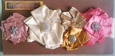 Duipioni Silk Ruffled Flower Sash w/ Rhinestones on by GJBoyles, $65.00