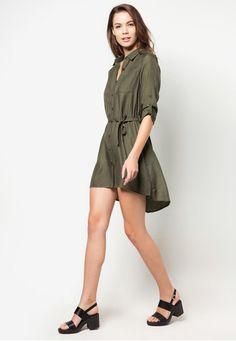 Basic Shirt Dress (rayon and polyester)