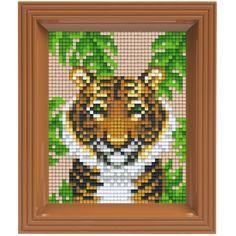 Complete set om een schilderij van deze tijger te maken.