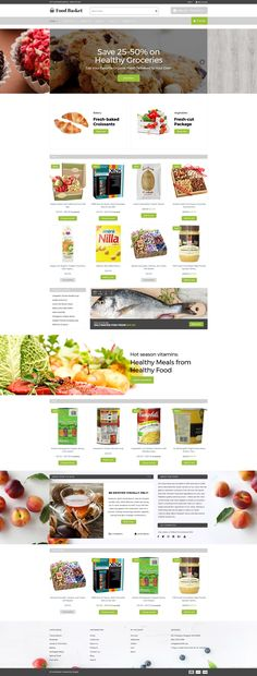 Food Store Responsive Shopify Theme #63575