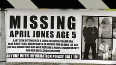 #MissingChild!  April Jones, 5 years old  (Wales, UK)