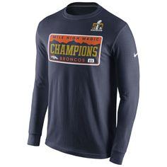 Nike Denver Broncos Navy Super Bowl 50 Champions Celebration Local Long  Sleeve T-Shirt b9a180375