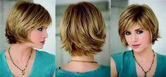 Cortes de cabelo curto atrás e comprido na frente Short Bob Hairstyles, Cute Hairstyles, Jolie Photo, Long Bob, Fine Hair, Short Hair Cuts, Hair Trends, My Hair, Curly Hair Styles