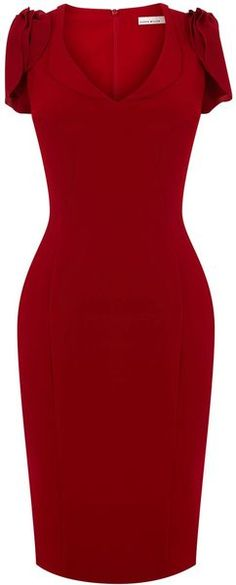 KAREN MILLEN 40s Draped Crepe Dress
