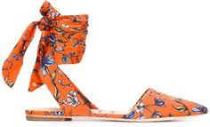 Sam Edelman - Brandie Sandals In Yellow/orange Orange Sandals, Floral Sandals, Orange Shoes, Orange Orange, Yellow, Ankle Wrap Sandals, Ankle Strap Shoes, Toe Shoes, Shoes Sandals