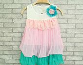 baby girl's summer dress two layers,3,4,5,6,7T Baby girl clothes skirt green tutu